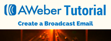 AWeber Broadcast Email Editor
