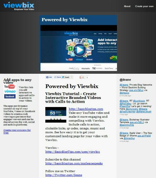 Viewbix webpage