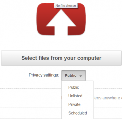 Upload video to youtube via mobile