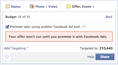 Additional Facebook Ad options