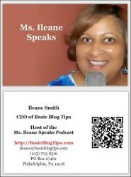 Ms. Ileane Speaks Business Card
