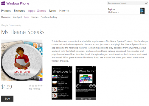 Ms. Ileane Speaks on Windows Phone 8
