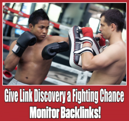 Fight back monitor backlinks