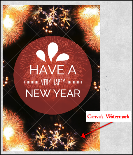 Canva's Watermarked images cost a dollar