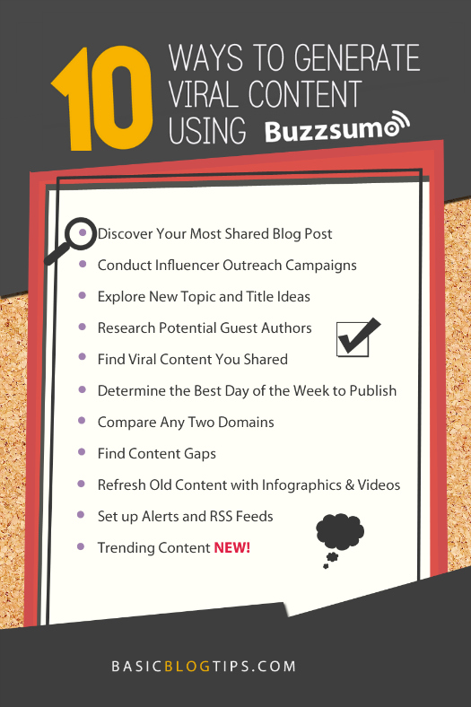 What is all the Buzz about Buzzsumo? - Basic Blog Tips